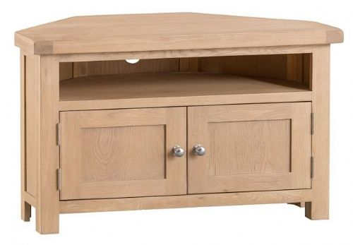 Oxford Oak 2 Door Corner TV Unit